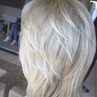 White blonde style