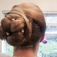 Wedding hair up with diamantes