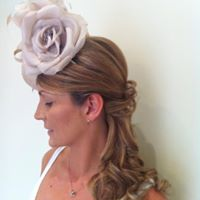 Wedding hair with fascinator