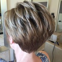 Blonde choppy cut