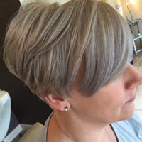 Short blonde cut
