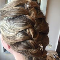 french plait with flowers