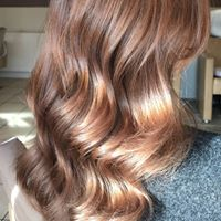 Shiny brown waves